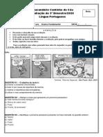 Avaliação de Língua Portuguesa 3º bimestr 5º ano 20201-convertido