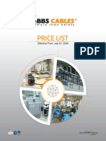 BBS Cables Price List July 2020