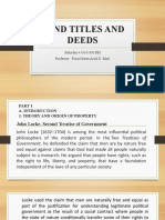 Land Titles and Deeds -Powerpoint