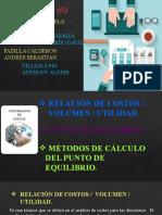 EXPOSICION CONTABILIDAD GRUPO 9 PUNTO DE EQUILIBRIO