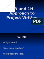 5W and 1H Approach to Project Writing