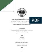 Strategi Pengembangan Kualitas Karyawan Pada Badan Kepegawaian Daerah Kabupaten Boyolali