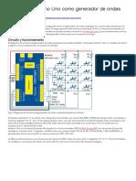 Configurar Arduino Uno como generador de ondas cuadradas