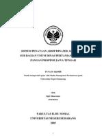 Sistem Penataan Arsip Dinamis Aktif Pada Sub Bagian Umum Dinas Pertanian Tanaman Pangan Propinsi Jawa Tengah
