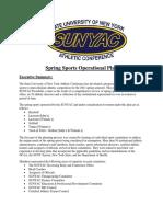 SUNYAC SpringSports Operational Plan21