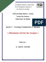 cours mécanisme des toxiques (2)