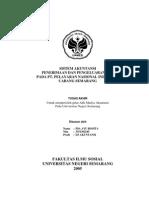 Sistem Akuntansi Penerimaan Dan Pengeluaran Kas Pada PT. Pelayaran Nasioal Indonesia Cabang Semarang