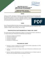 Comite Nacional de Etica Organizacion y Funcionamiento