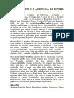 NOSSA FRAQUEZA E A ASSISTÊNCIA DO ESPÍRITO SANTO