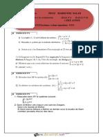 Série d'Exercices 6 Lycée Pilote - Math - Systèmes a Deux Équations - 1ère as (2016-2017) Mr Mabrouki Salah (1)
