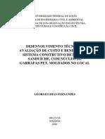 DISSERTAÇÃO UFGO 2016 - PAINEL SANDUICHE COM NUCLEO DE GARRAFA PET