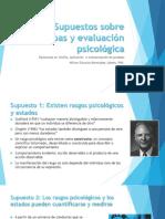 Supuestos sobre pruebas y evaluación psicológica