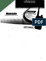KENWOOD TH-F5 Linton LT6100 RonsonRT6000manual
