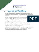 Manual SAP Workflow con ejemplo completo