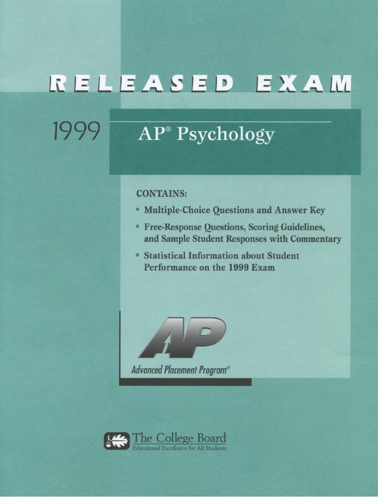 AP PSYCHOLOGY EXAM   WRITING  Tips for Free Response Questions DO     Students can use this to review for the test on Psychological Disorders or  the concepts from this chapter that will be on the AP Psychology National  Exam