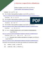 Actividad. Planos ,Esferas, Superficies Cilindricas Superficies Cuádricas. PDF