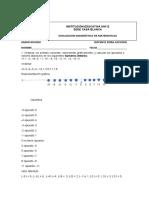 Matematicaevaluacion Diagnostica Grado Noveno 2021