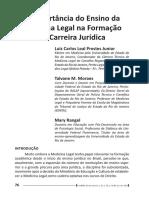 A importancia do ensino da medicina legal na carreira jurídica