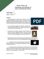 Rotational Kinematics and Dynamics