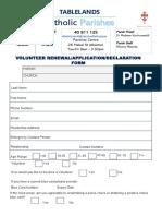 volunteer renewal application form