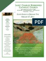 February 27, 2011 Bulletin