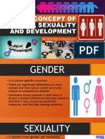 THE CONCEPT OF GENDER, SEXUALITY AND DEVELOPMENT