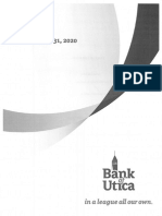 Bank of Utica 2020 Annual Report