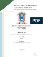 PRACTICA DE LABORATORIO N1 VECTORES