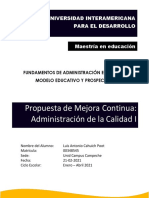 Propuesto de mejora continua Luis Cahuich