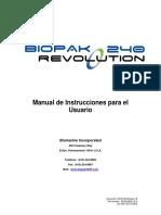 Equipo BIOPAK 240R MANUAL PARA EL USUARIO