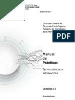 Tecnologías de Informacion I - Manual de Practicas v3.3