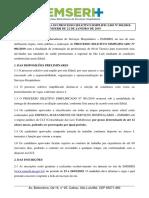 Edital Processo Seletivo Simplificado 001.2019