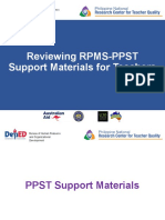 Session 5 Reviewing the RPMS-PPST Support Materials