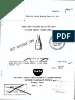 Preflight Training Plan for First Manned Gemini Flight Crew