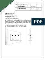 2. CE-411 Quiz-2 - Syed Ubaiul Amin - 223720