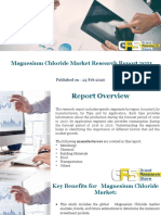 Magnesium Chloride Market Research Report 2021