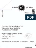 Terrain Photography on the Gemini IV Mission - Preliminary Report