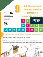 Grandezas físicas_ tensão elétrica e corrente elétrica