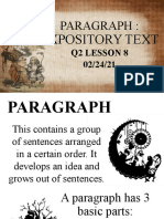 PARAGRAPH-EXPOSITORY TEXT