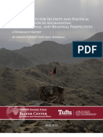 prospects for security and political =  reconciliation in afganistan - local national and regional prspektif