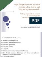 Schaeffer-Lacroix Foreign Language Text Revision DGfS 2011