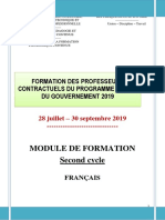 Modules Formation Contractuels 2019_FranЗais 2nd Cycle
