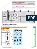 Devoir de synthèse N°2 (Avec correction) - Technologie - 1ère AS (2007-2008)