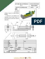 Devoir de Contrôle N°2 - Technologie dessin technique ve reglable - 1ère AS  (2011-2012) Mr sellami