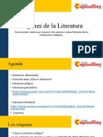 Literatura y Sus Orígenes