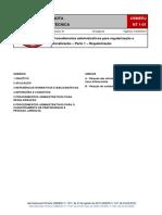 NT 1-01 - Procedimentos administrativos para regularização e fiscalização - Parte 1  (Regularização)