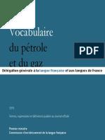 Vocabulaire Du Pétrole Et Du Gaz