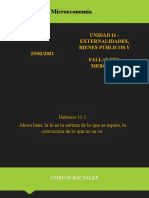 Unidad 11 - Externalidades, Bienes Públicos y Fallas Del Mercado