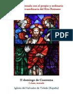 II Domingo de Cuaresma Propio y Ordinario