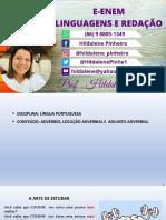 ADVÉRBIO_LOCUÇÃO ADVERBIAL E ADJUNTO ADVERBIAL _HILDALENE PINHEIRO